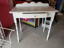 White Painted Wood Vanity or Desk #1885-152 in Wilmington, North Carolina