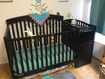Convertible Baby Crib / Toddler Bed with Changing Table in Wiesbaden, GE