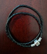 new authentic Pandora double wrap black leather bracelet in Cherry Point, North Carolina