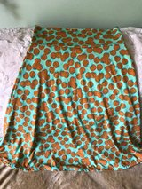 Lularoe azure skirt mint green with oranges in Morris, Illinois