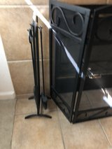 Fireplace screen and tool set in Fairfield, California