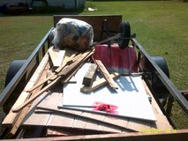 small amount of new useable lumber, wall  insulation, siding remnants, used wheel barrow in Pearland, Texas