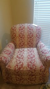 NEARLY BRAND NEW - Cream & Red Sofa Set (OBO) in Pearland, Texas