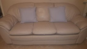 Nearly New Cream Leather Couch (OBO)! in League City, Texas