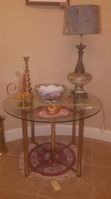 Beautiful Vintage Glass Table (OBO) in Pearland, Texas