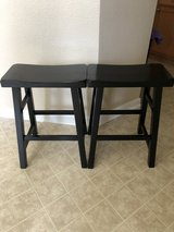 (2) Black wooden barstools in Tomball, Texas