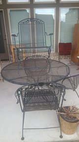 Black Iron Patio Set (Table w/ Four Chairs) --- OBO!!! in League City, Texas