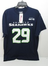 SEATTLE SEAHAWKS - # 29 (ET) Thomas III T-Shirt Navy (Men's Large) *** NEW *** in Fort Lewis, Washington