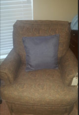 Red Pattern Fabric Chair in League City, Texas