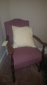 Red Chair W/ Brown Wood Arms - OBO in League City, Texas