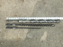 "Bosch Spline Shank Carbide Tipped Rotary Hammer Drill Bits 1 3/4"" *1""  *1/2"" in Wheaton, Illinois"