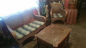 Vintage Tri-Color Bamboo & Rattan Furniture Set in Rolla, Missouri