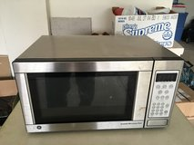 Stainless steal over the counter microwave in Batavia, Illinois