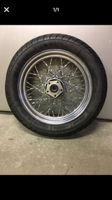 Motorcycle rim & tire in Plainfield, Illinois