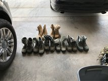 8 Pairs of Military Boots Size 9.5 - 10 in Alamogordo, New Mexico
