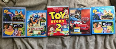 4 Brand New Unopened Popular Disney DVD's in Beaufort, South Carolina