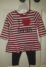 NWOT I LOVE SANTA 2 piece outfit ~ sz 12M in Kingwood, Texas