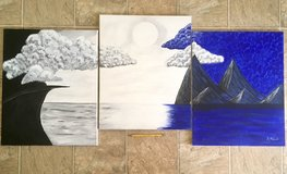3 piece canvas painting in Camp Pendleton, California