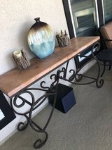 Iron and Marble Buffet Table in The Woodlands, Texas