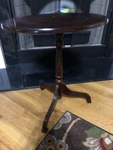 Cherry Wood Oval Side Table in Byron, Georgia