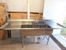 3 compartment stainless steel sink in Ruidoso, New Mexico