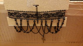 Choker necklace with cross black (orig.$18) in Bolingbrook, Illinois