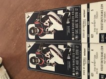 Texans vs San Francisco tickets plus parking pass in The Woodlands, Texas