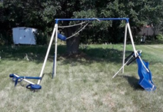 metal swing set in Sugar Grove, Illinois