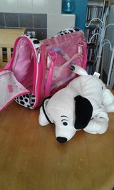 Dalmatian toy and carrier in Lakenheath, UK