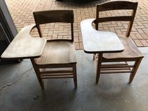 Vintage Wood School Chair with Writing Table (Adult size) - $45  2 Available in Manhattan, Kansas