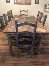 Shabby Chic solid wood kitchen TABLE w/ 6 chairs in San Clemente, California