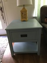 end table ( painted robins egg blue) in Fort Benning, Georgia