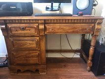 antique solid wood desk in San Clemente, California