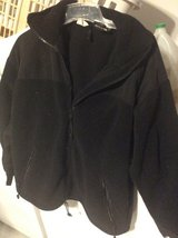 Men's black fleece jacket sz Med in Ramstein, Germany