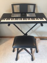Yamaha keyboard with Proline stand and seat in Morris, Illinois