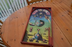 Vintage Bagatelle Game man it space Pinball Board Game 1950s/1960s Made in England by Chad Valley in Lakenheath, UK