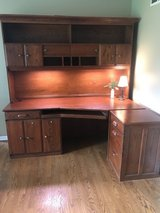 Large Solid Wood desk w/ hutch in Naperville, Illinois