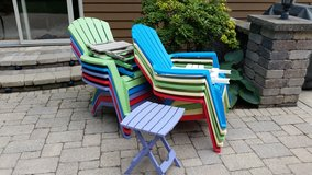 patio furniture, chairs and side tables in Naperville, Illinois