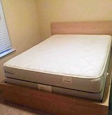 Queen Mattress Set and Frame, Like New in Bellaire, Texas