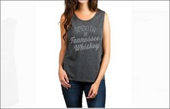 NEW AS SMOOTH AS TENNESSEE WHISKEY Large Gray Knit Top Blouse Tee T-Shirt Women's Country Cowgir... in Kingwood, Texas