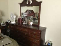 Dresser with mirror, cherry wood, in Vacaville, California
