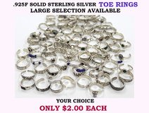 STERLING SILVER TOE RINGS GALORE!!! in Okinawa, Japan