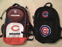 KIDS Chicago Cubs or Chicago Bears Backpacks in Joliet, Illinois