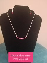 Rockin Rhinestone Pink Necklace in Fort Campbell, Kentucky