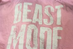 BEAST MODE ON 2XL XXL PINK Graphic Tee T-Shirt Men Football Work Out Gym Weights in Kingwood, Texas