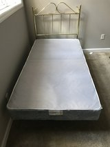 Twin bed frame and box springs in Fort Campbell, Kentucky