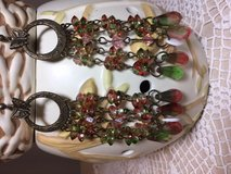 Chandelier Earrings Pinks and Greens Long Lightweight NEW in Kingwood, Texas