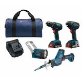 Bosch Combo 4-Tool 18-Volt Lithium Ion Cordless Kit NEW in Fort Campbell, Kentucky