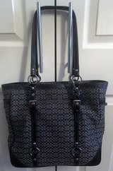 REAL COACH BLACK CLOTH & TRIM TOTE, BAG, PURSE in Lakenheath, UK
