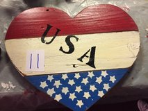 Wooden USA heart sign in Spring, Texas